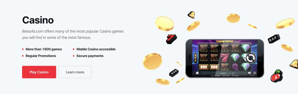 BetSofa win real money online casino for free